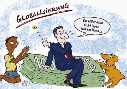 Bildergebnis für globalisierung karikatur