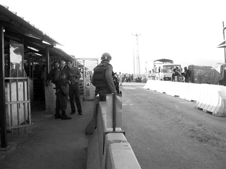 Checkpoint Nablus Israel