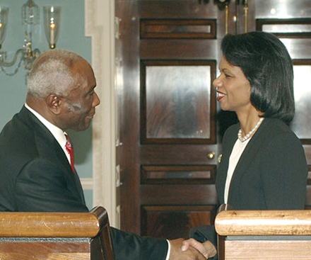 Jacques-Edouard Alexis Condoleezza Rice 2007 Foto: Michael Gross