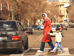 Tehran street-crossing Foto: Fesenjoon
