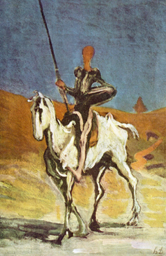 Honore Daumier Don Quichote