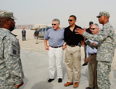 Obama Camp Arifjan Kuwait Foto: Jim Hinnant