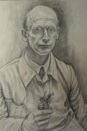 Walther Schliephake - Selbstporträt Titelbild des Ausstellungsbegleitheftes