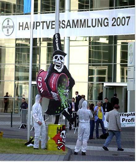 Des künstlers klaus klinger zur begrüßung der aktionäre 2007
